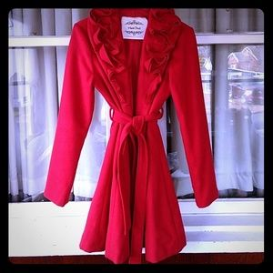 ❤Cherry red jacket